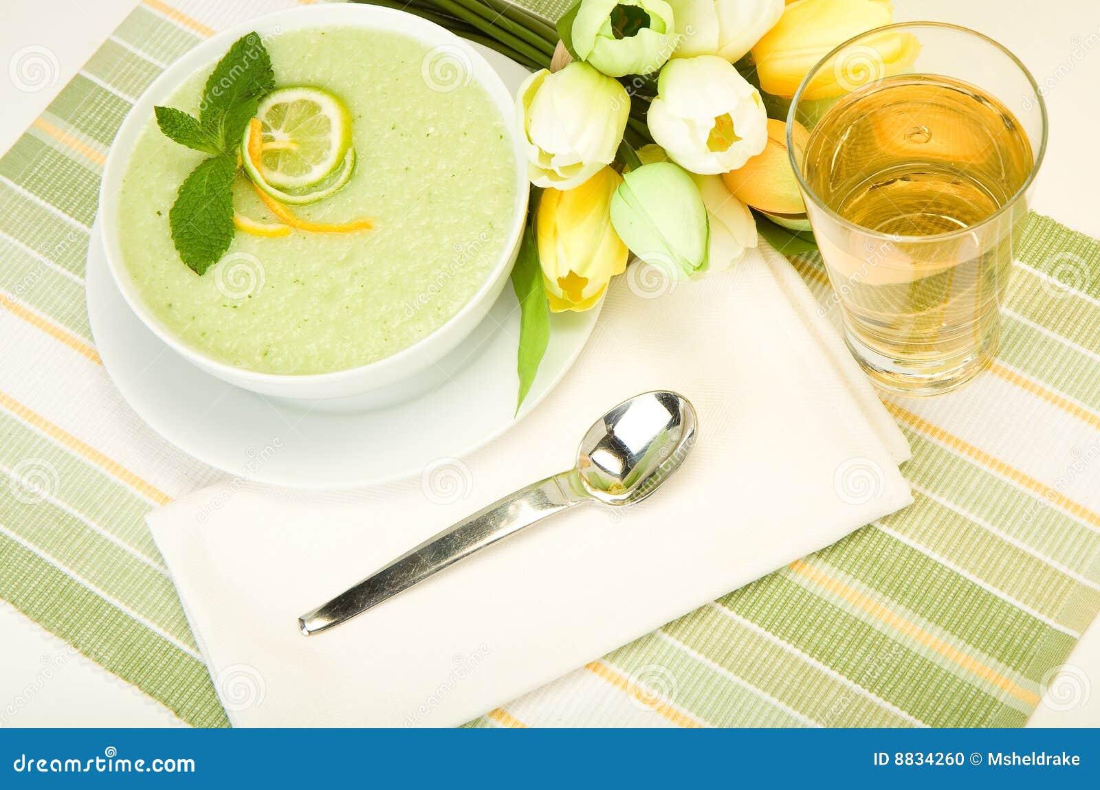 Cool Melon Soup Stock Photo - Image: 8834260