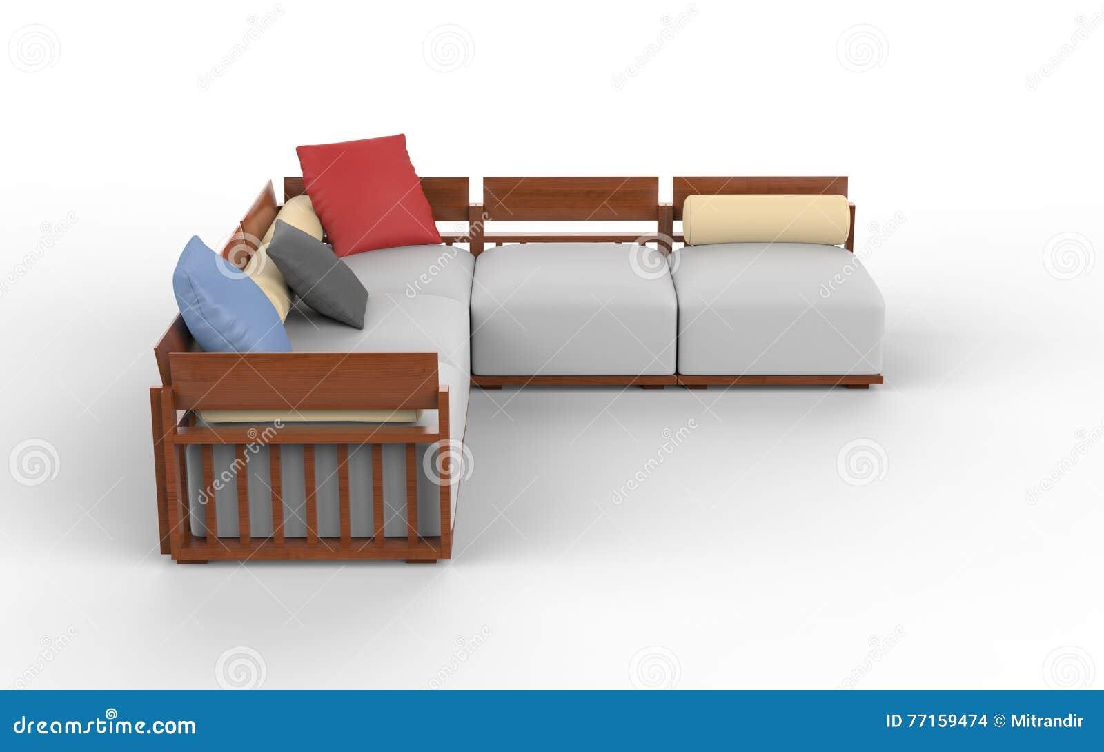 Stupendous Cool Modern Corner Furniture Set Stock Photo Image Of Home Interior Design Ideas Gentotryabchikinfo