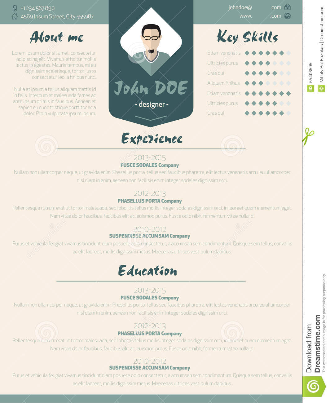cool new modern resume curriculum vitae template with design ele stock vector