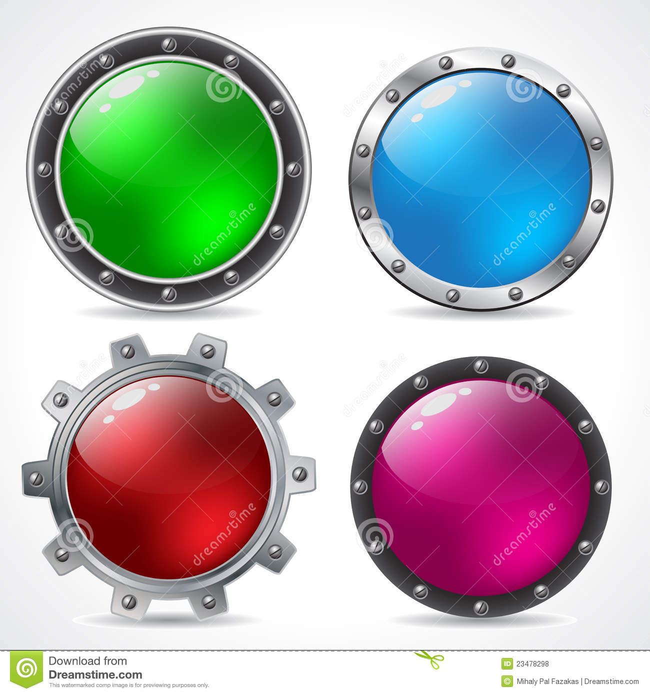 Cool New Technology Button Design Stock Vector - Illustration of ...
