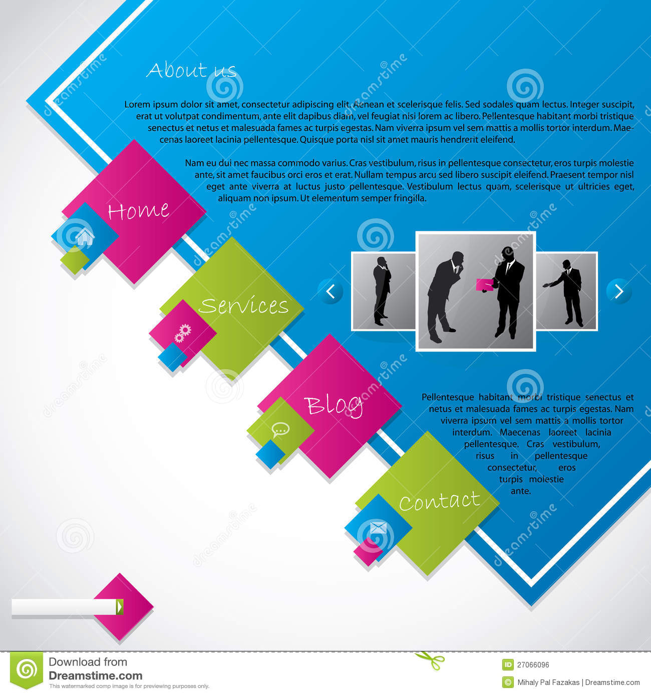 Cool Website Templates: Cool New Website Template Design Royalty Free Stock Image