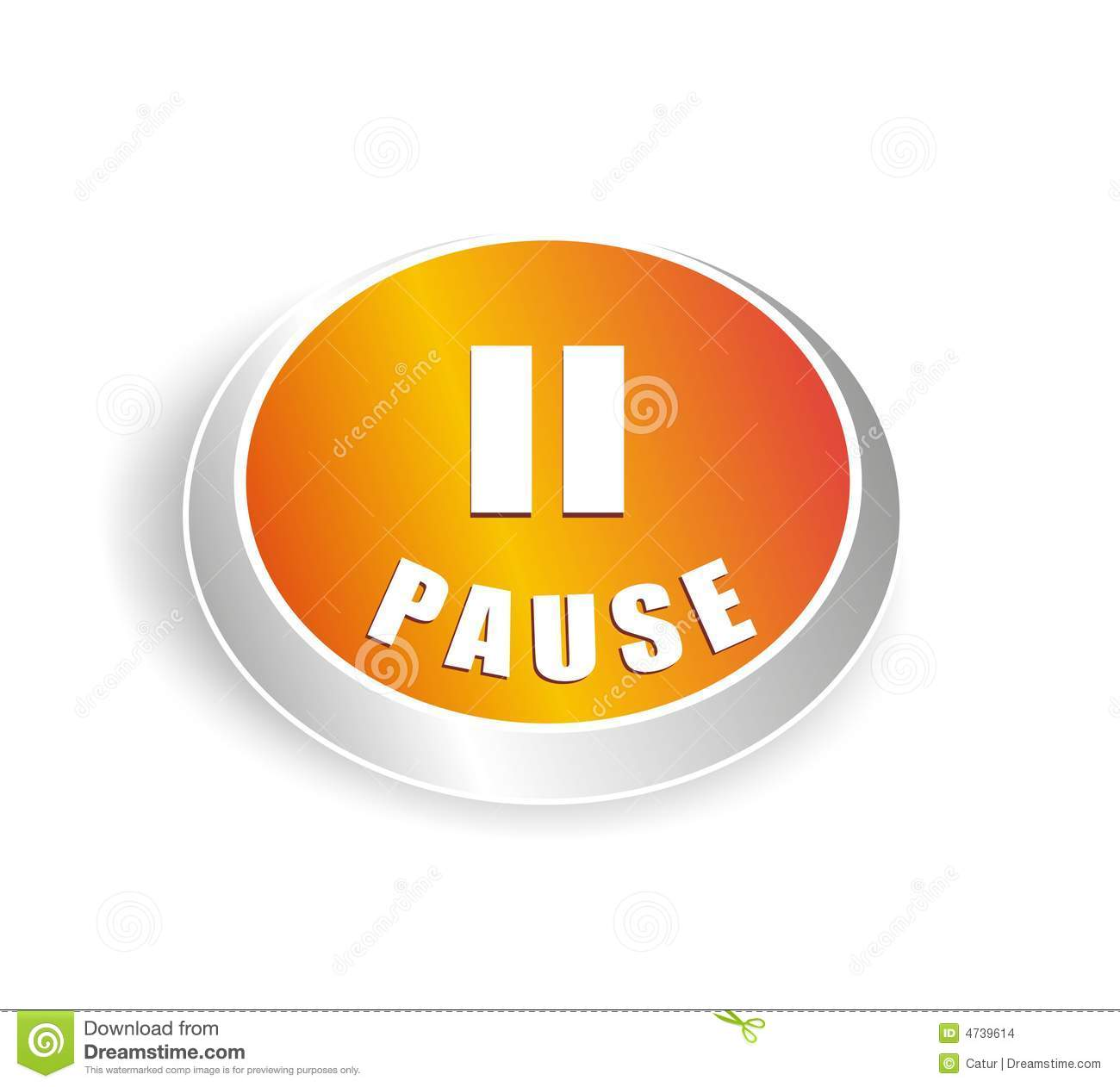 Cool Pause Button Stock Images - Image: 4739614