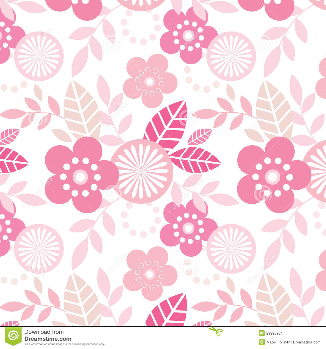 Funky Flowers Pattern Stock Illustration Illustration Of