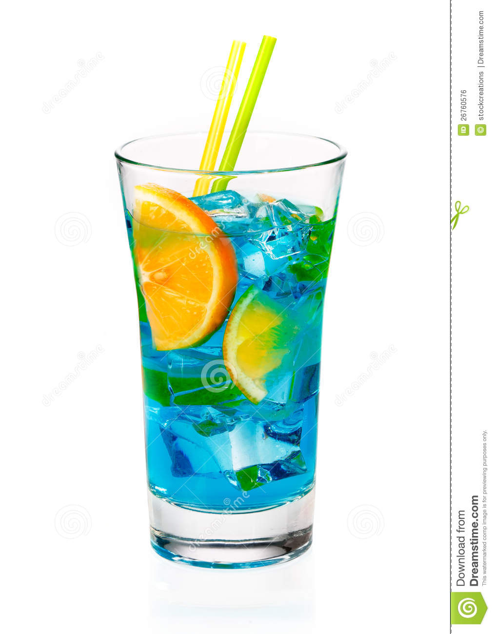 Cool refreshing curacao cocktail royalty free stock image for Cocktail curacao