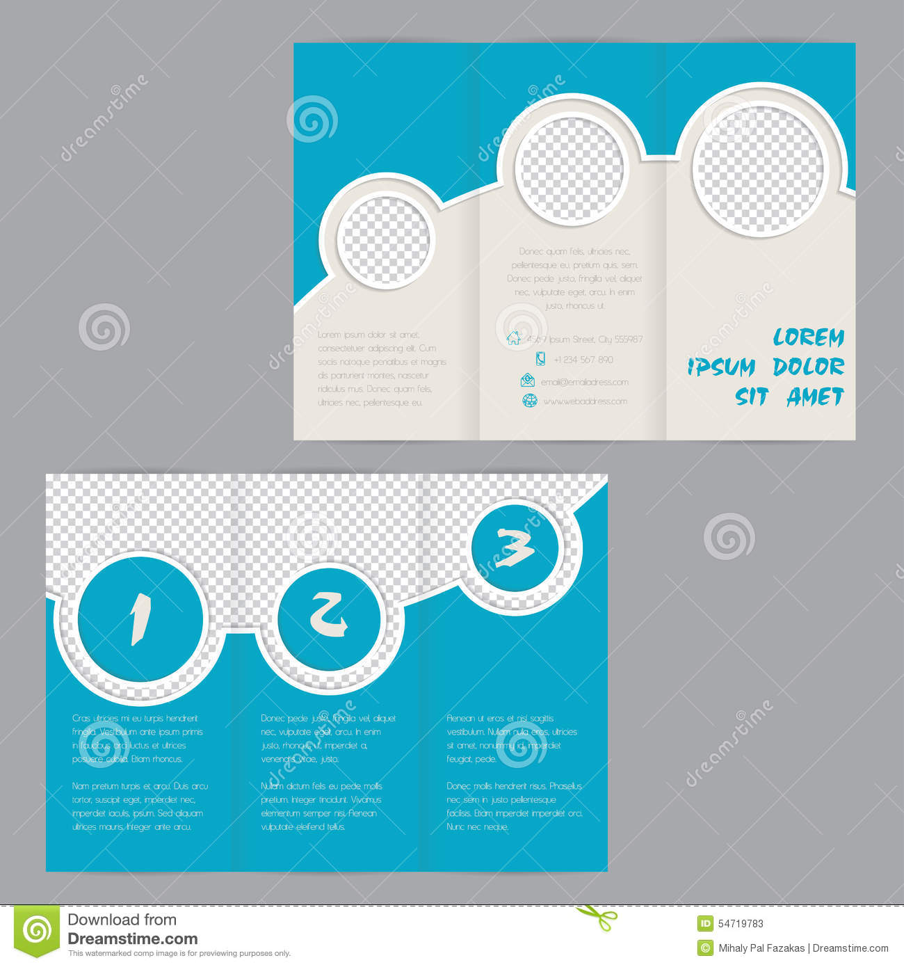Cool ring design tri fold brochure template stock vector for Cool brochure templates