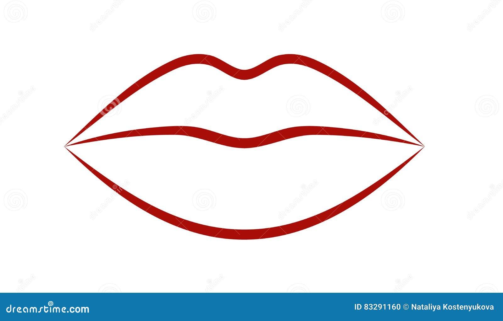 Cool Lips Stock Vector Illustration Of Vector White 83291160