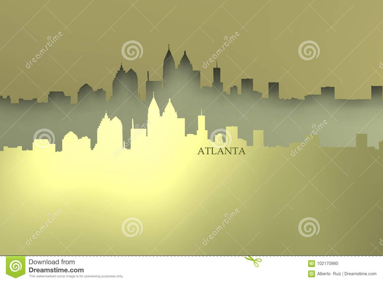 Sparkly Atlanta skyline.
