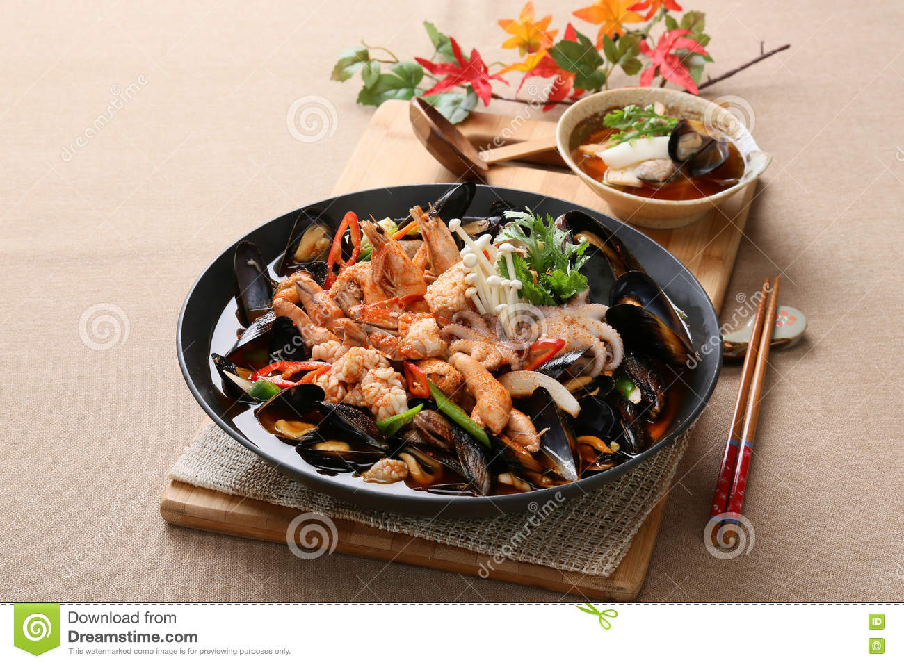 Cool And Spicy Seafood Soup Taste With ...