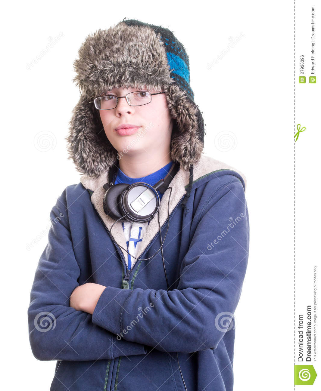 Cool Teen with Trapper Hat stock photo. Image of music - 27936396 9fd93978258