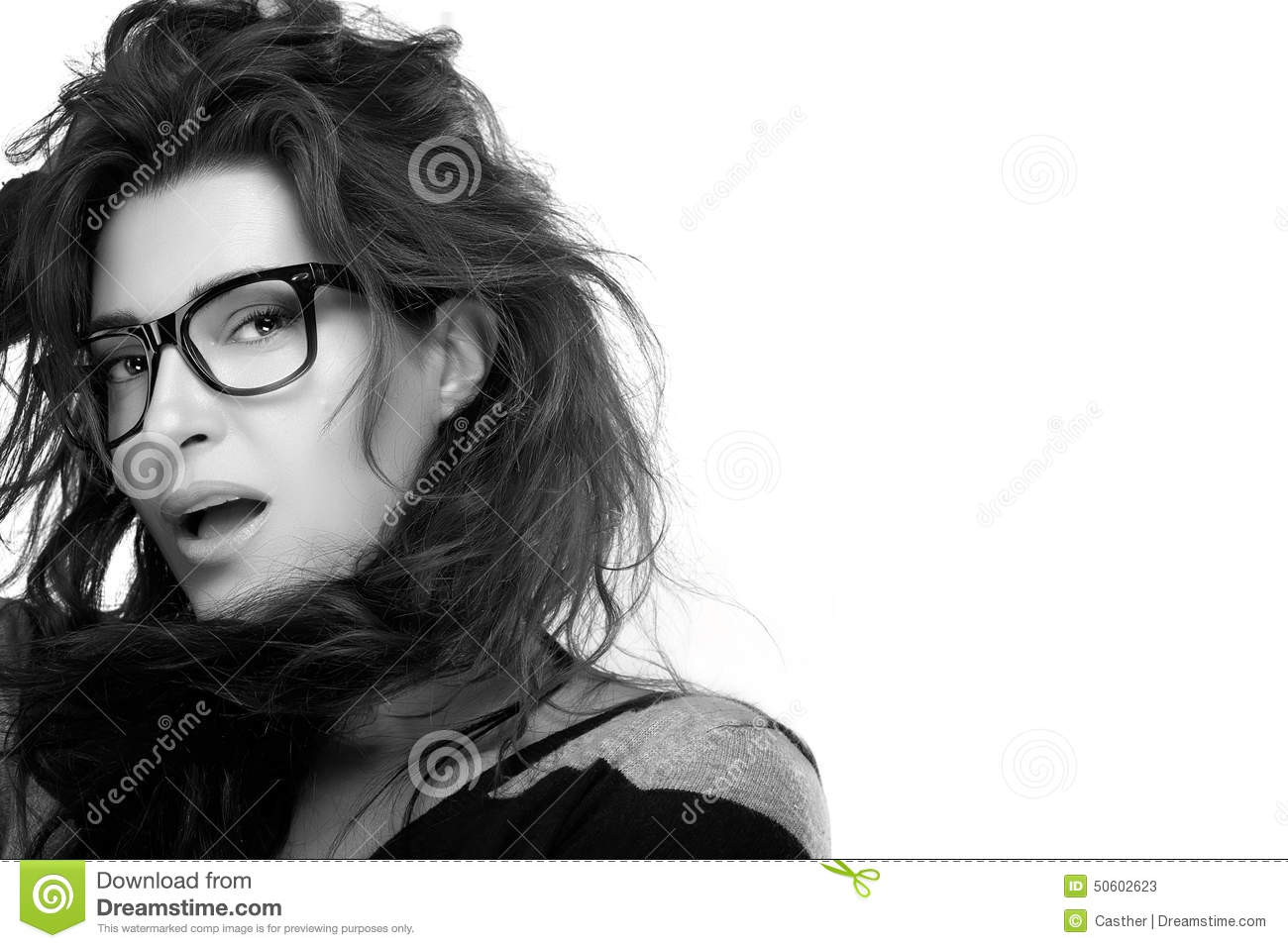 trendy eyewear  Cool Trendy Eyewear. Beauty Fashion Model Girl With Eyeglasses ...