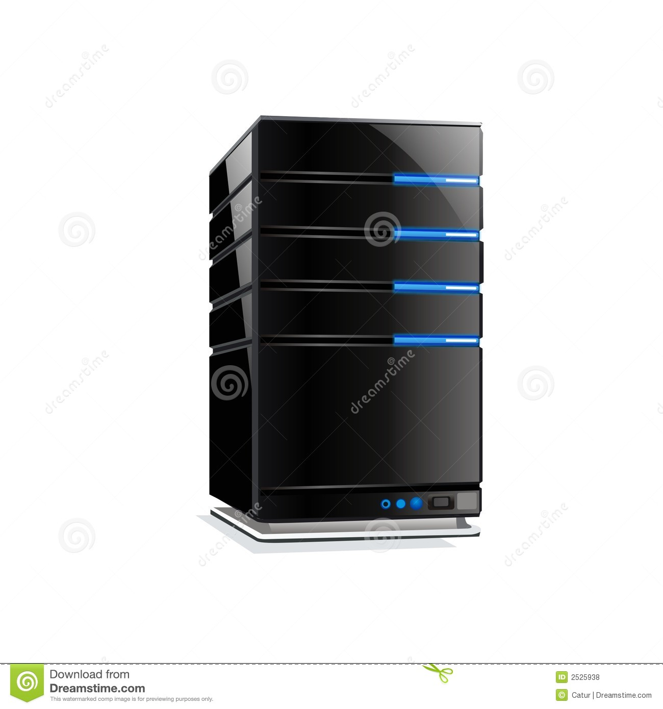 Cool Vector Computer Server Stock Vector - Illustration of ...
