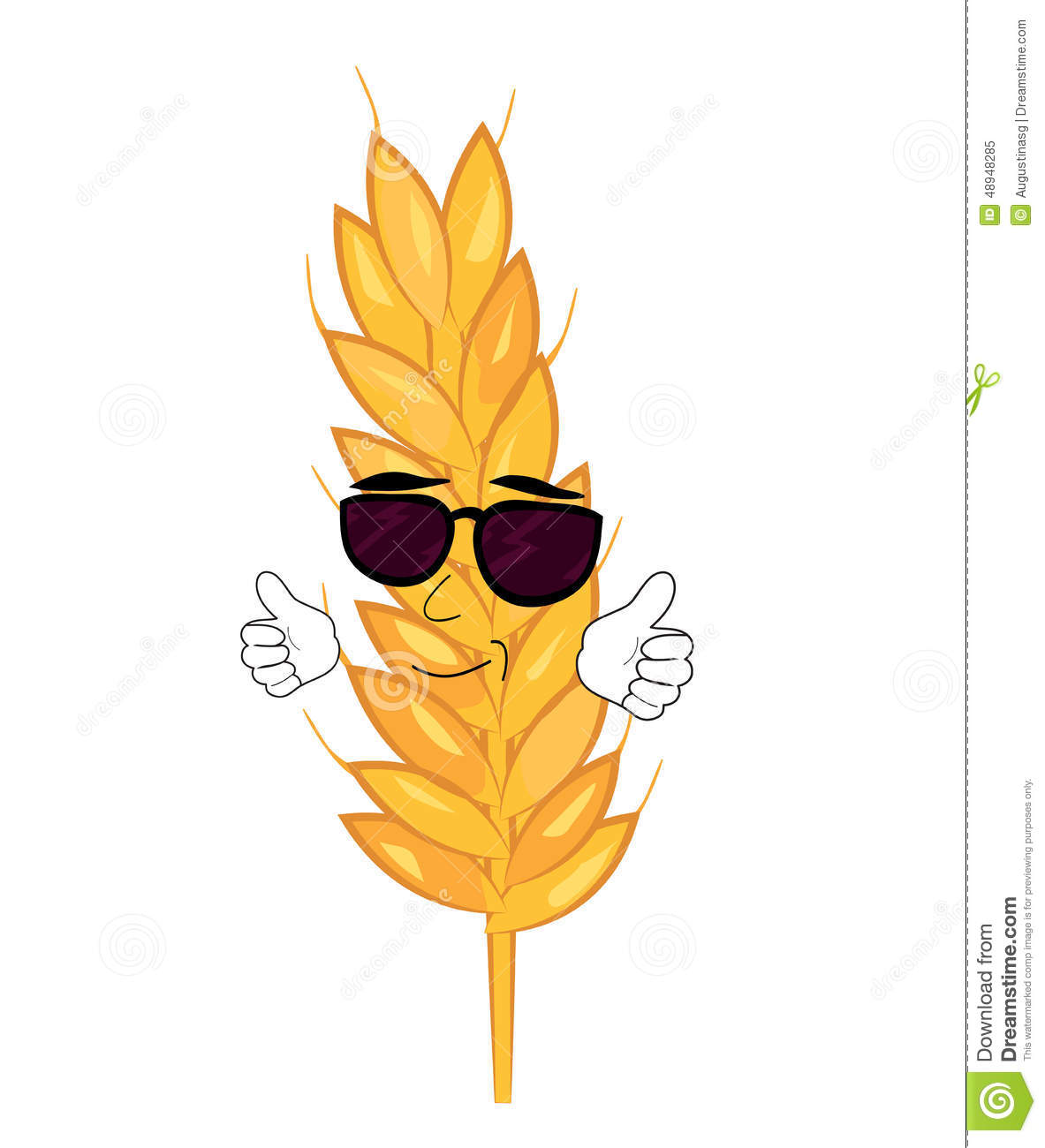 Cool Wheat Cartoon Stock Illustration - Image: 48948285 French Menu Clipart
