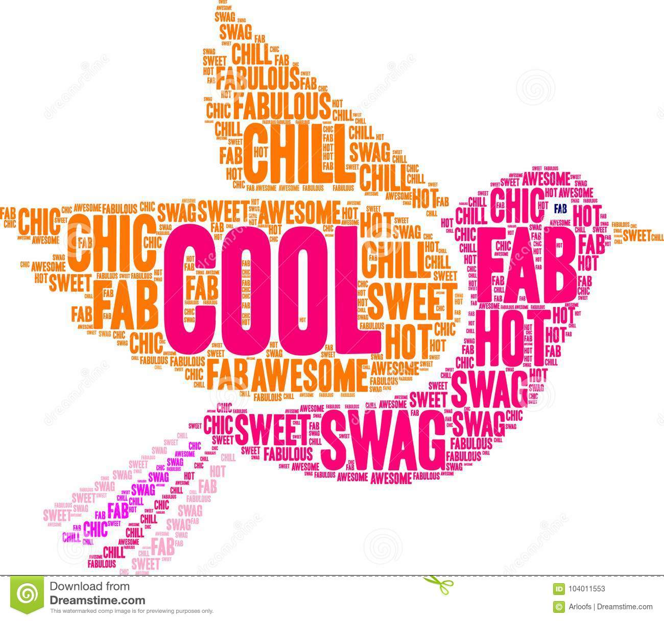 Cool Word Cloud stock vector  Illustration of area, graphics