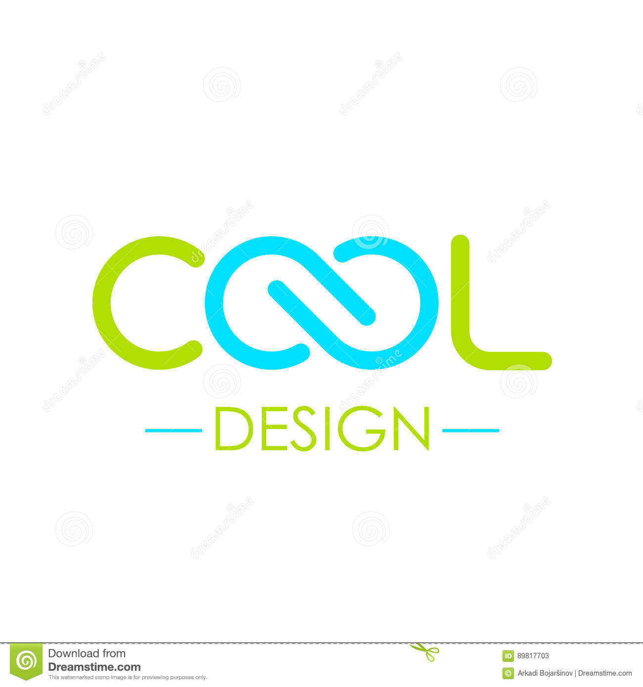 cool word logo with infinity symbol stock vector illustration of
