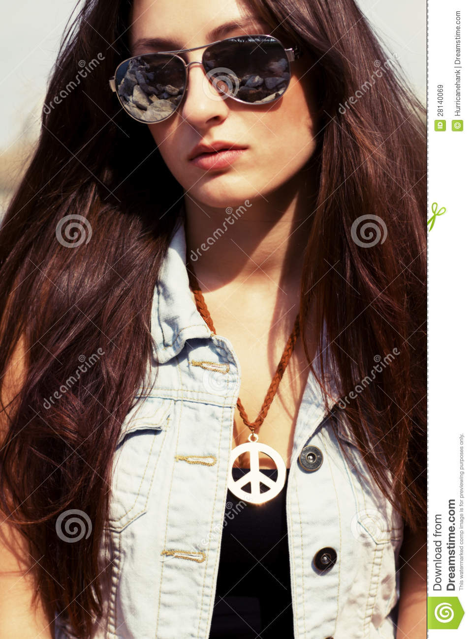 2fd9491344 Cool Young Girl In Sunglasses Stock Image - Image of caucasian ...