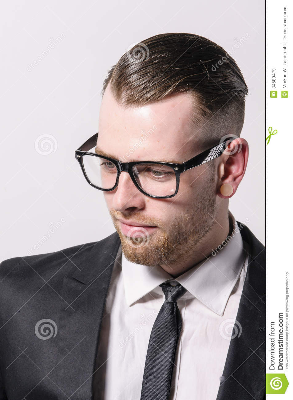 Cool Young Man With Glasses Stock Image Image 34580479