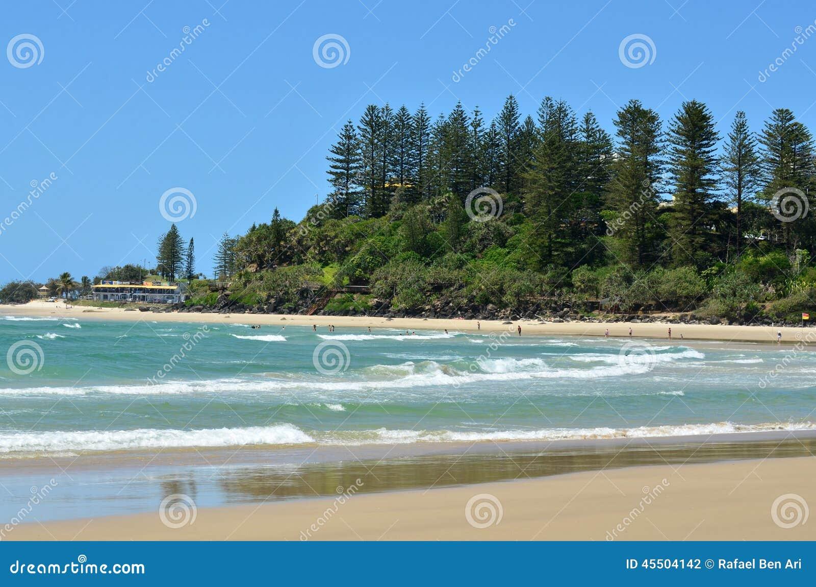 Coolangatta - złoto Brzegowy Queensland Australia