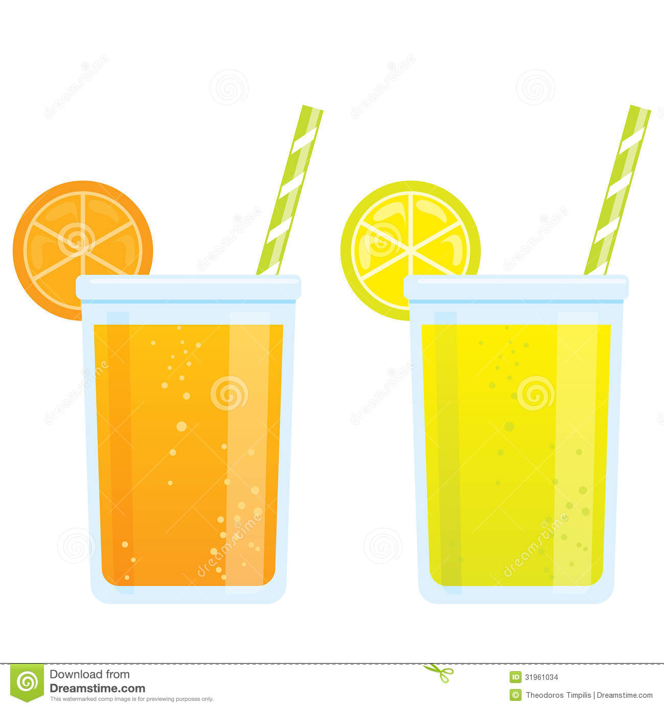 cooling cartoon beverages cold refreshing drinks of orange and l stock images image 31961034 TV Clip Art Eating Clip Art