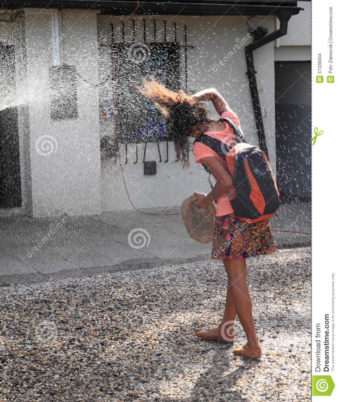 Cooling In Tropical Heat Stock Photo Image 57328004