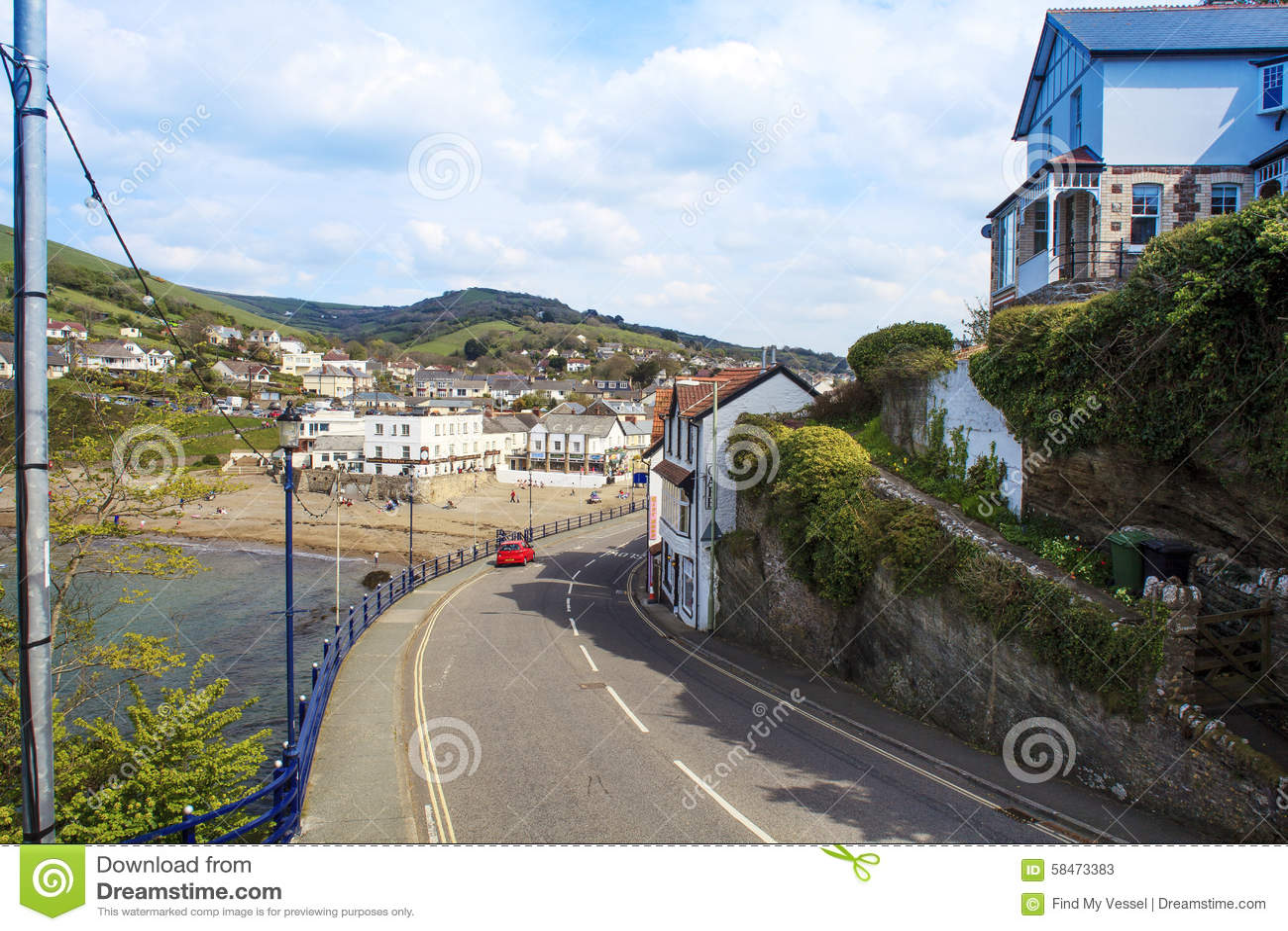 Coombe Martin zatoka Blisko Ilfracombe północy Devon,