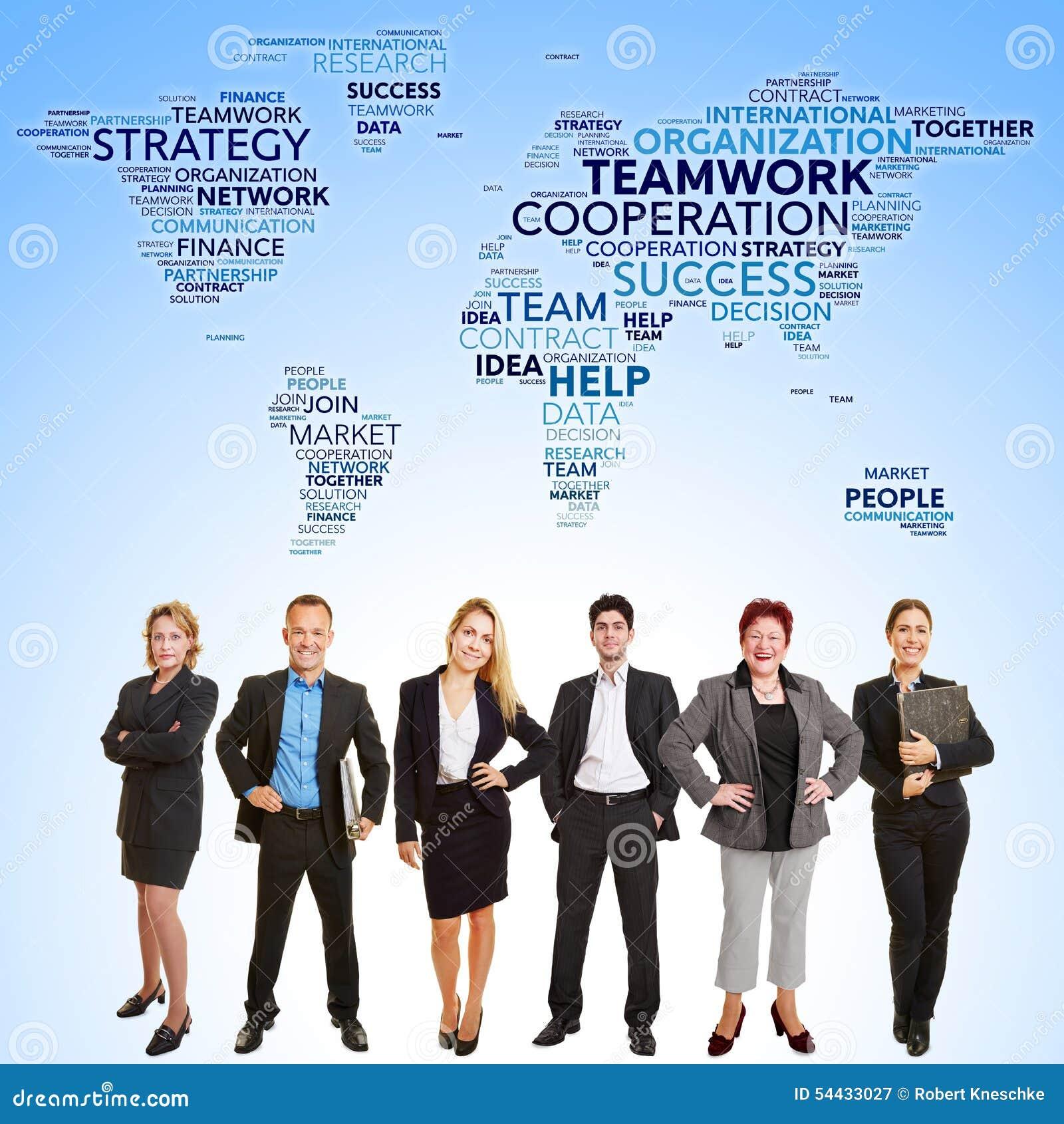 Coopération internationale de travail d équipe d affaires