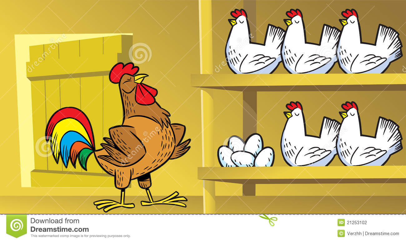 Coop Stock Vector Illustration Of Farm