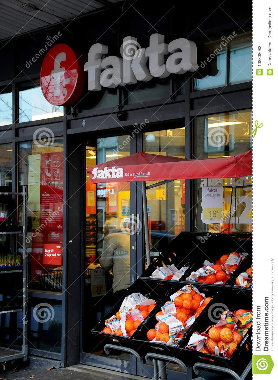 Coop Concerns Fakta Grocery Store Editorial Stock Photo Image Of
