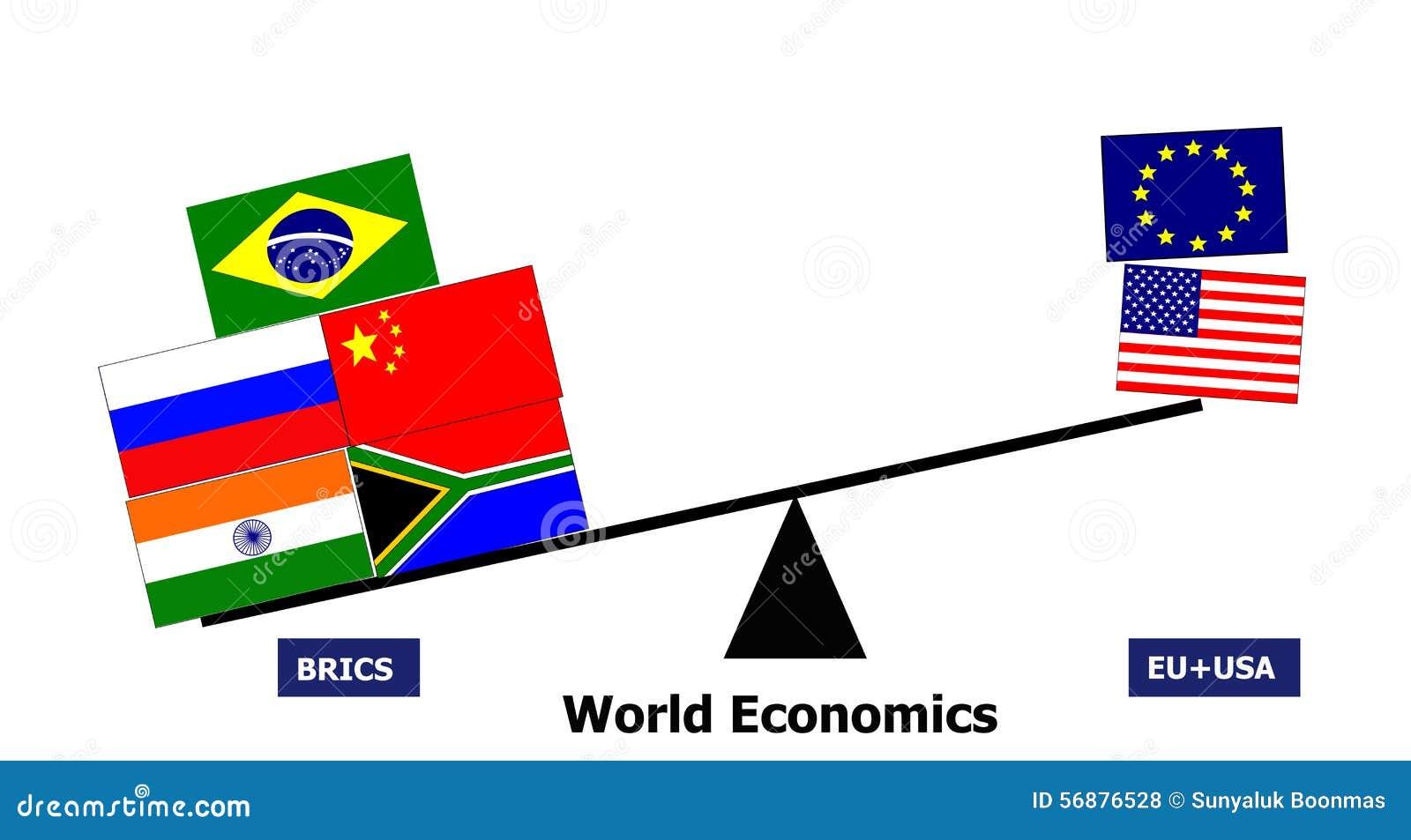 Cooperazione del paese di BRICS contro Eu S.U.A.
