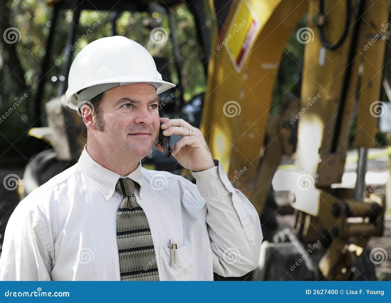 Coordenador no telefone