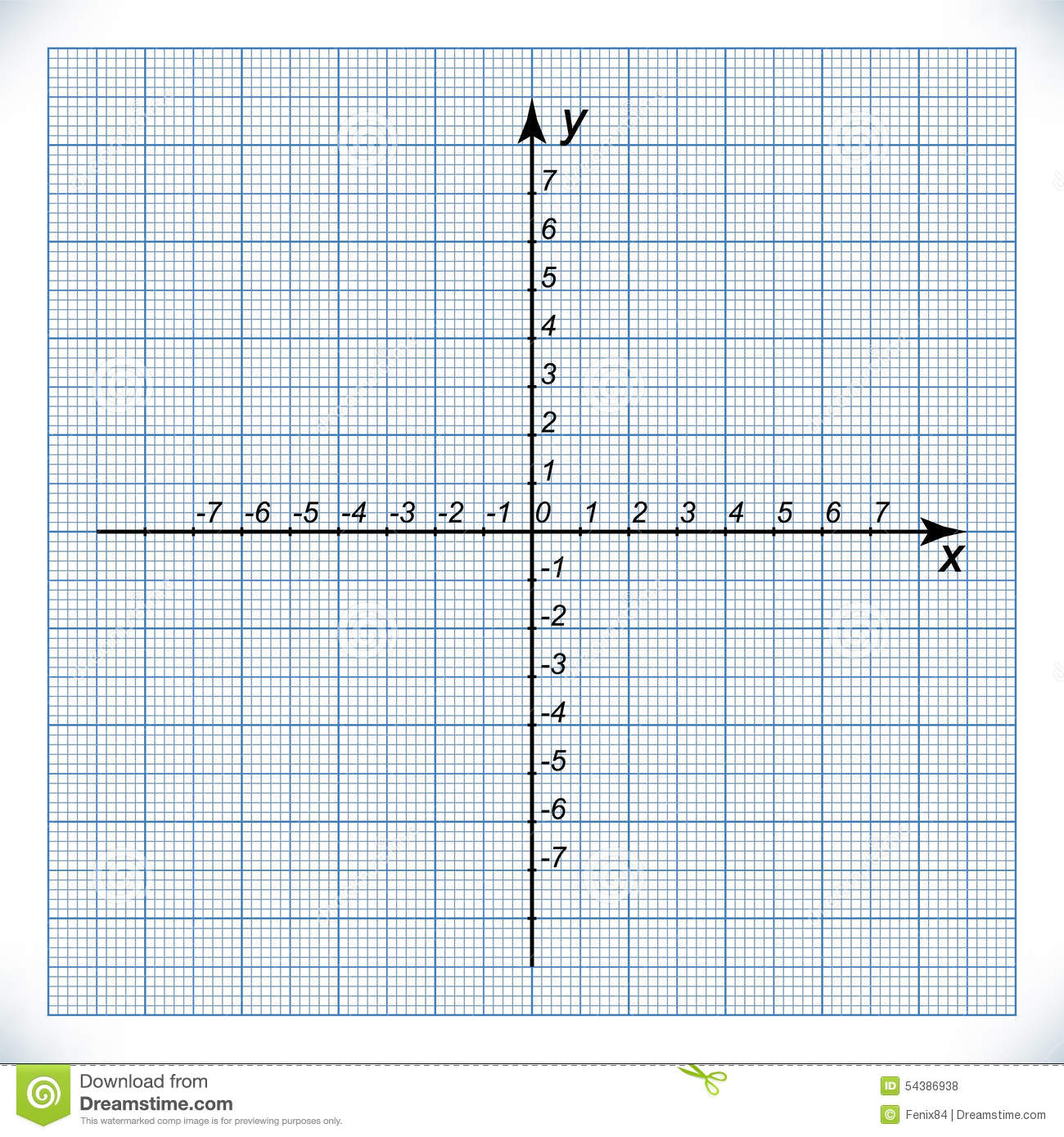 Coordinate Axis On The Graph Paper Vector Image 54386938 – Graph Paper with Axis