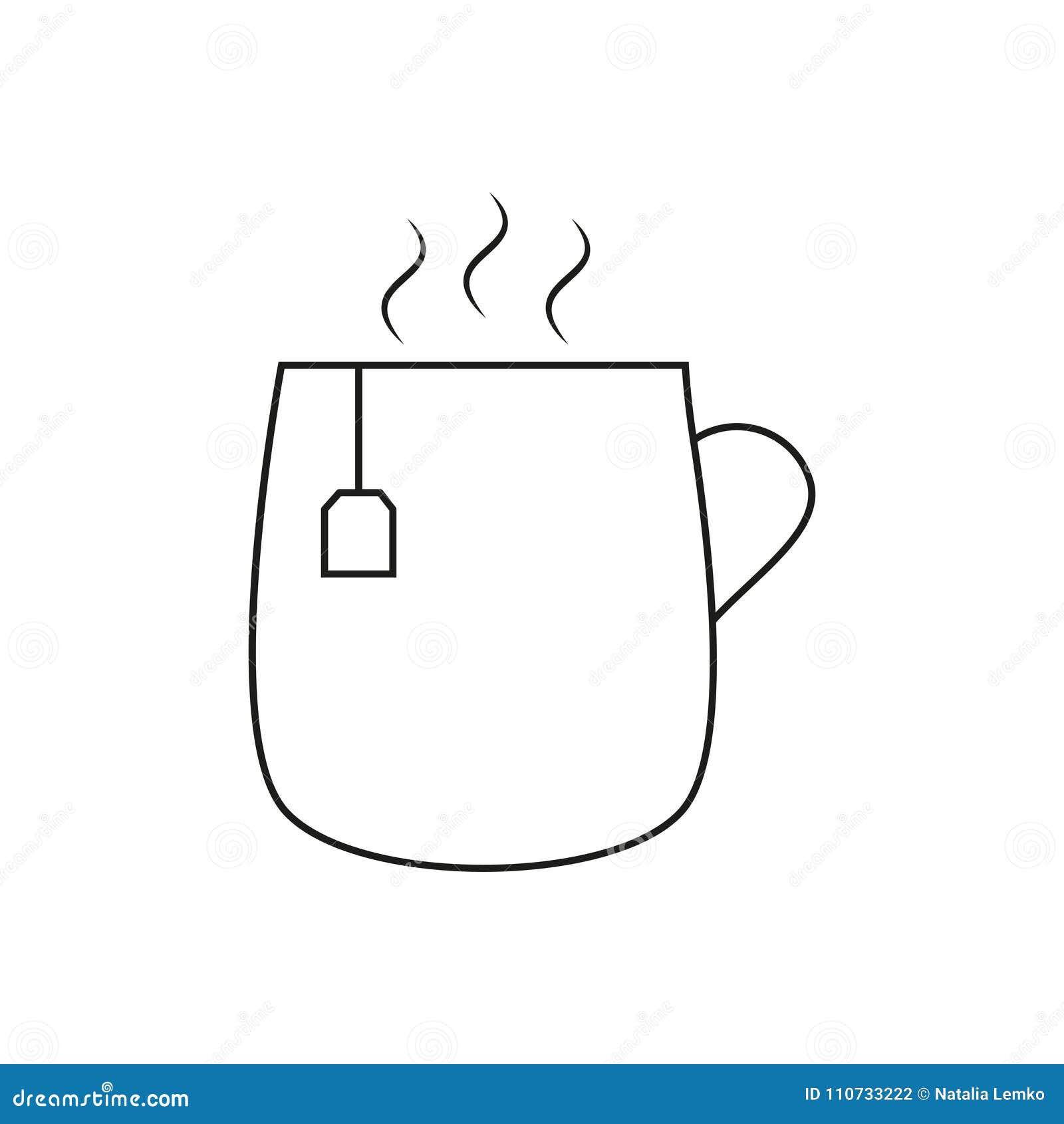 Cop Of Tea Icon Stock Vector Illustration Of Symbol 110733222
