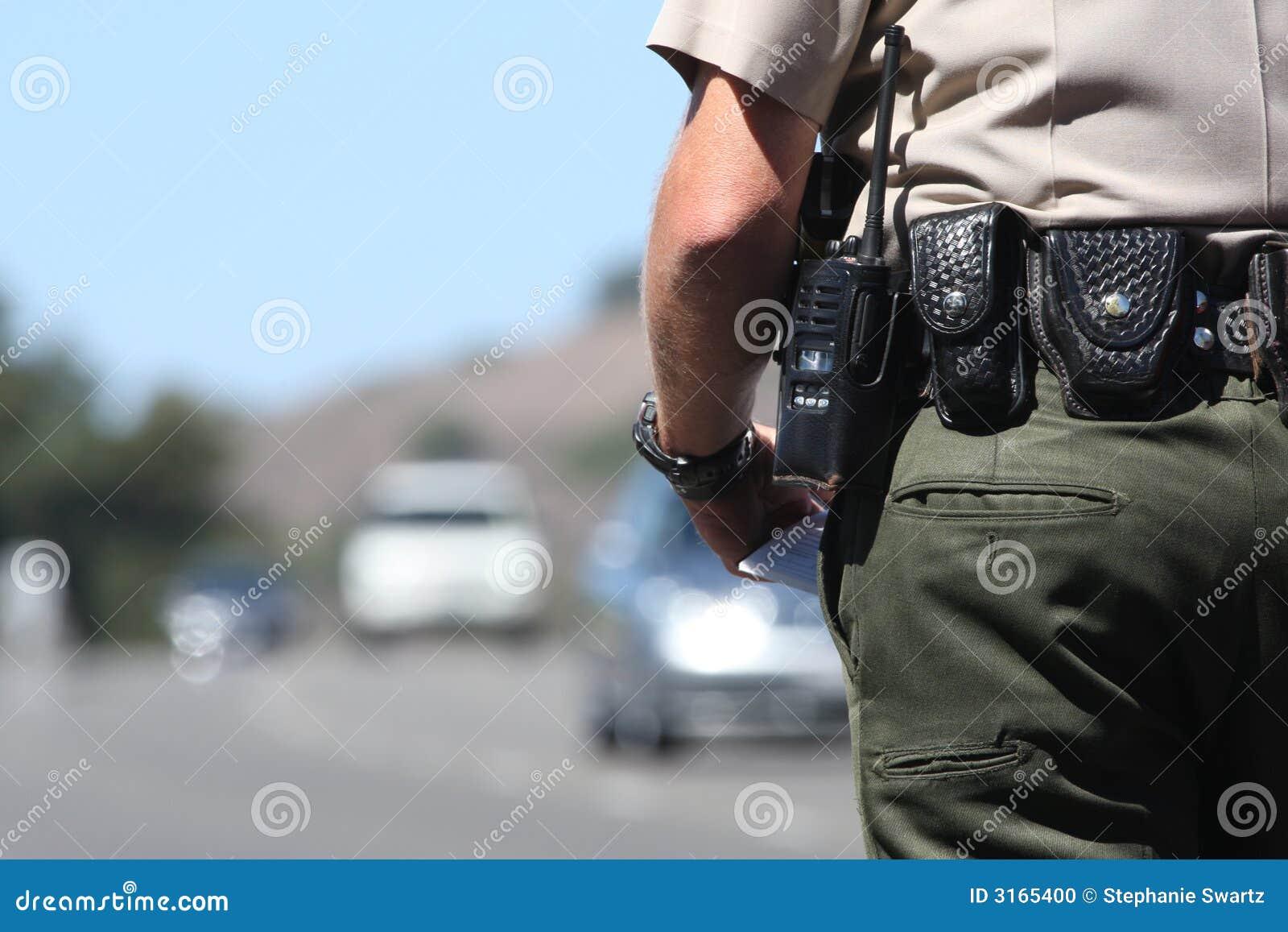 Cop van het verkeer