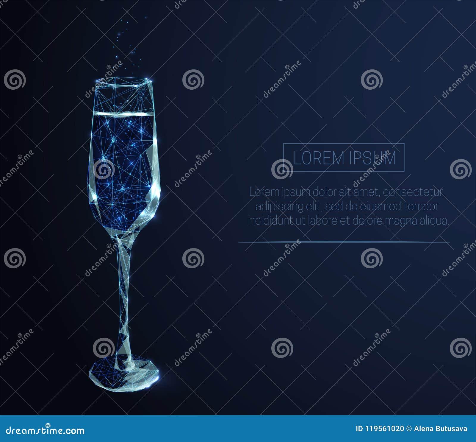 Copa con champán