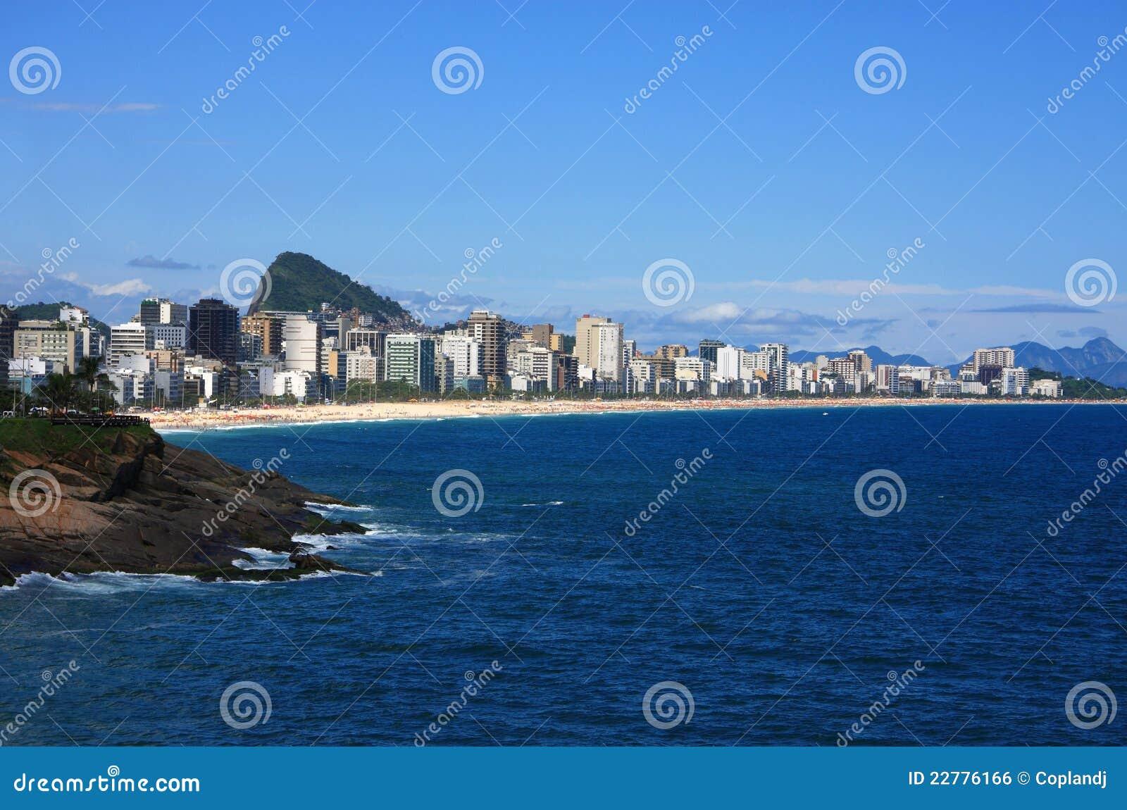 Copacabana de janeiro πανοραμική Ρίο όψη