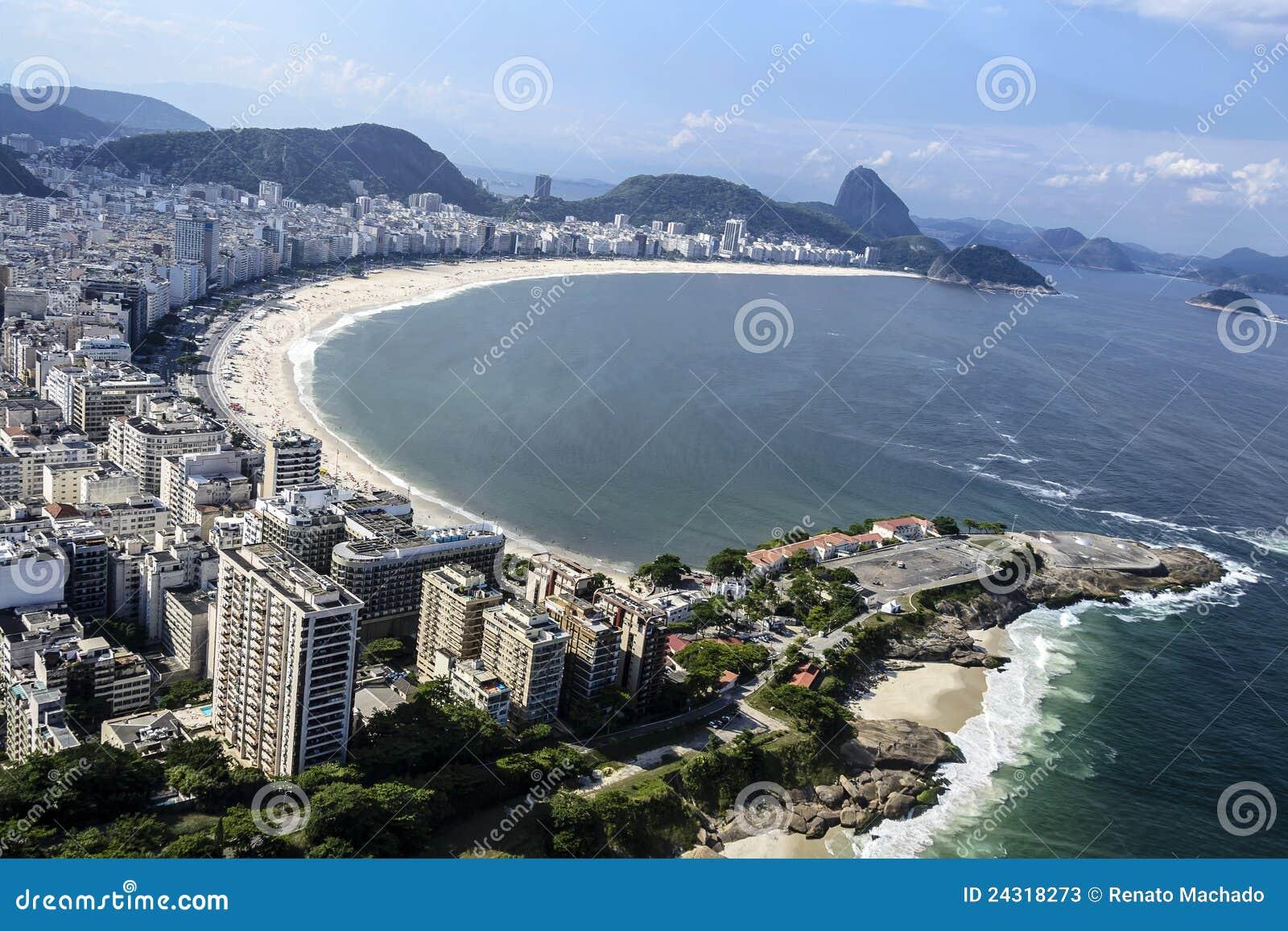 Copacabana lotniczy widok De Janeiro Rio