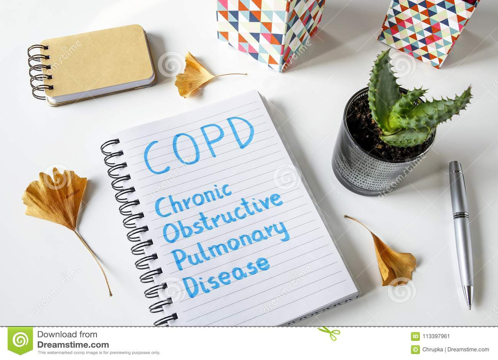COPD Chronic Obstructive Pulmonary Disease written in notebook