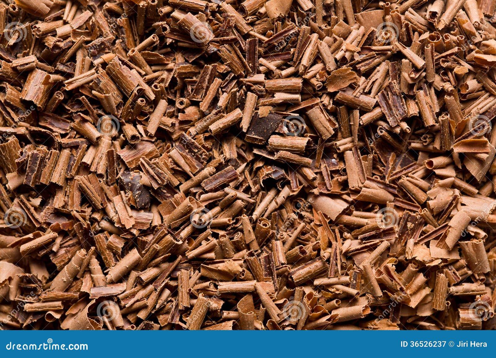 Copeaux de chocolat image stock image du dessus doux - Copeaux de bois colores ...