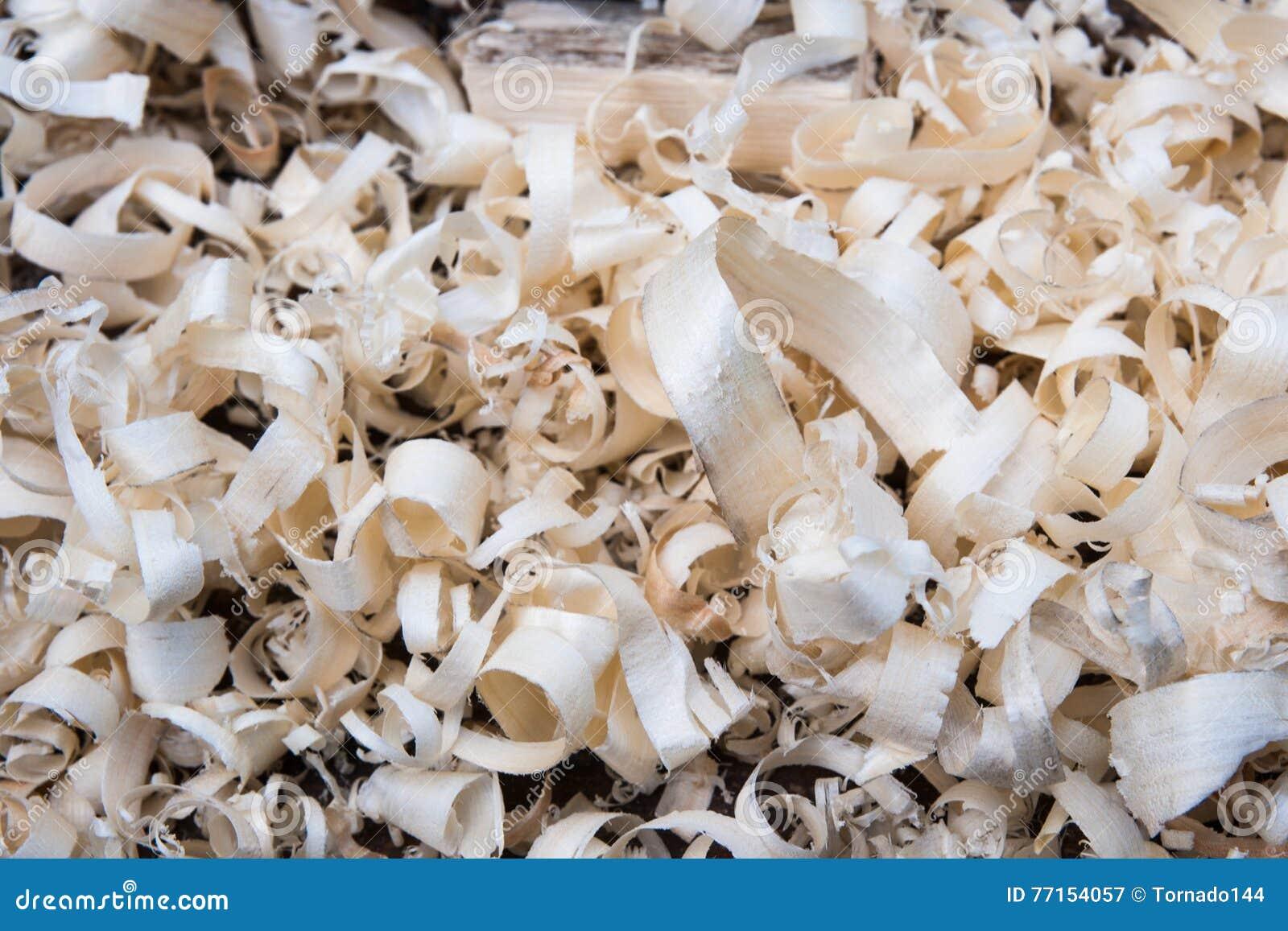Copeaux en bois frais