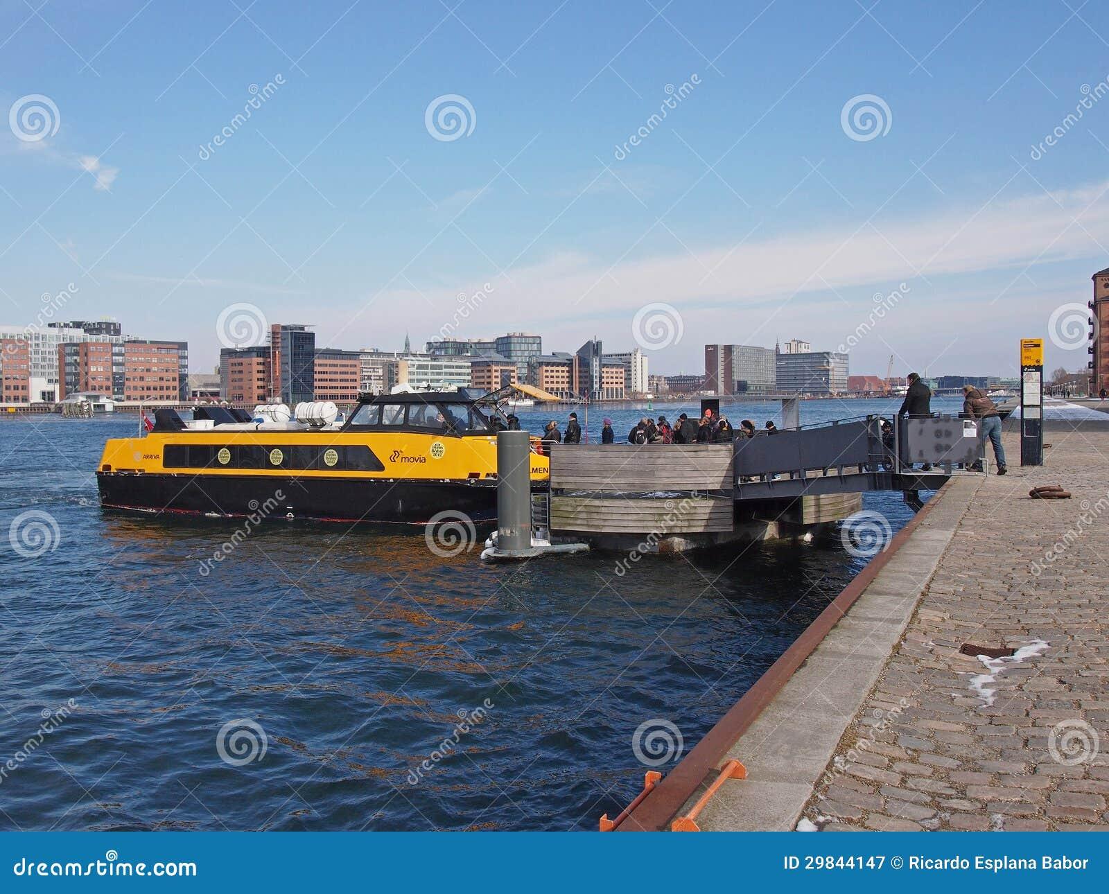 Ônibus do porto de Copenhaga