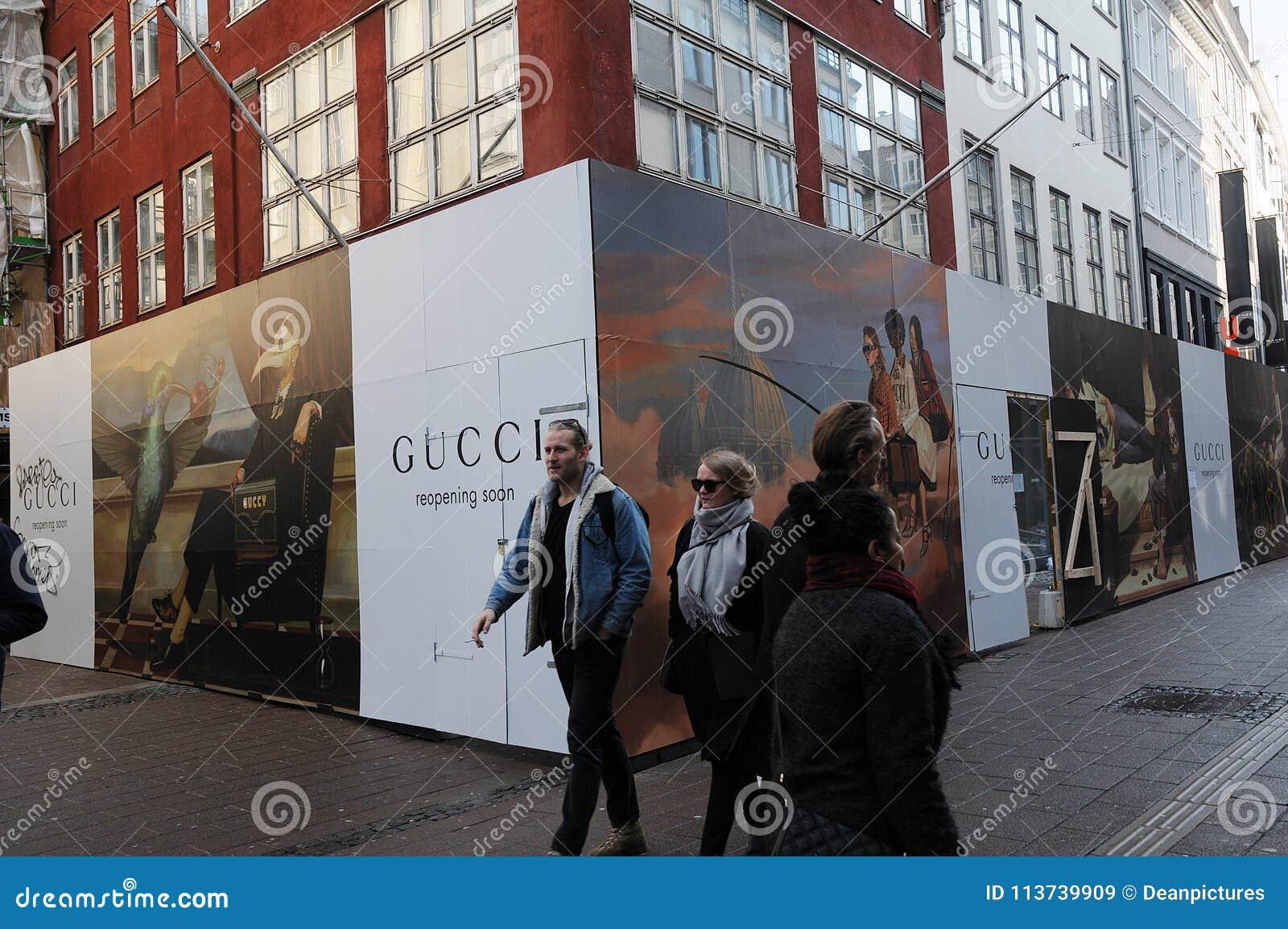 b2ab6a0a2a0 Copenhagen Denmark 04 April 2018 Gucci store under constructions on  stroeget. . Photo.Francis Joseph Dean   Deanpictures.