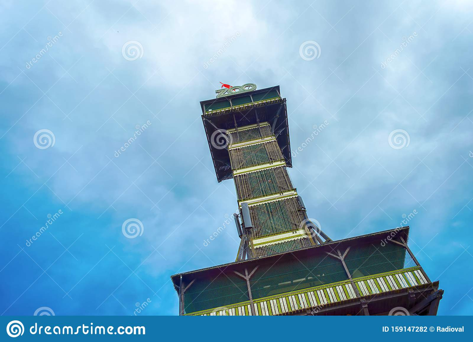 Copenhagen Denmark July 30 2019 The Observational Tower Of The Zoo In Copenhagen Bottom View Stock Photo Image Of Animal View 159147282
