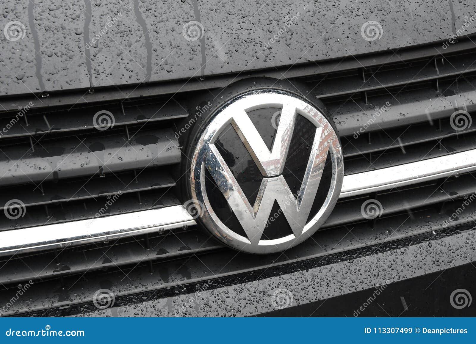 grman volks wagen car logo editorial stock image image of news