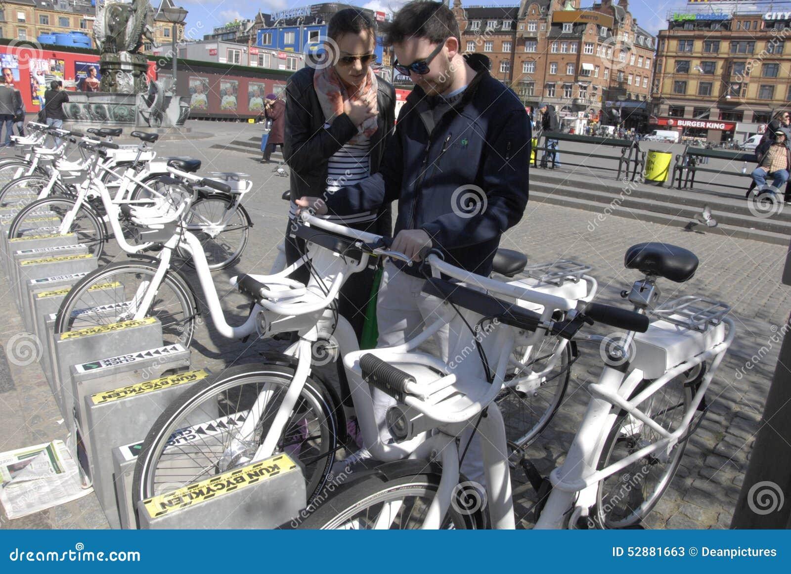 Copenhagen Electric City Bikes Editorial Stock Photo Image 52881663
