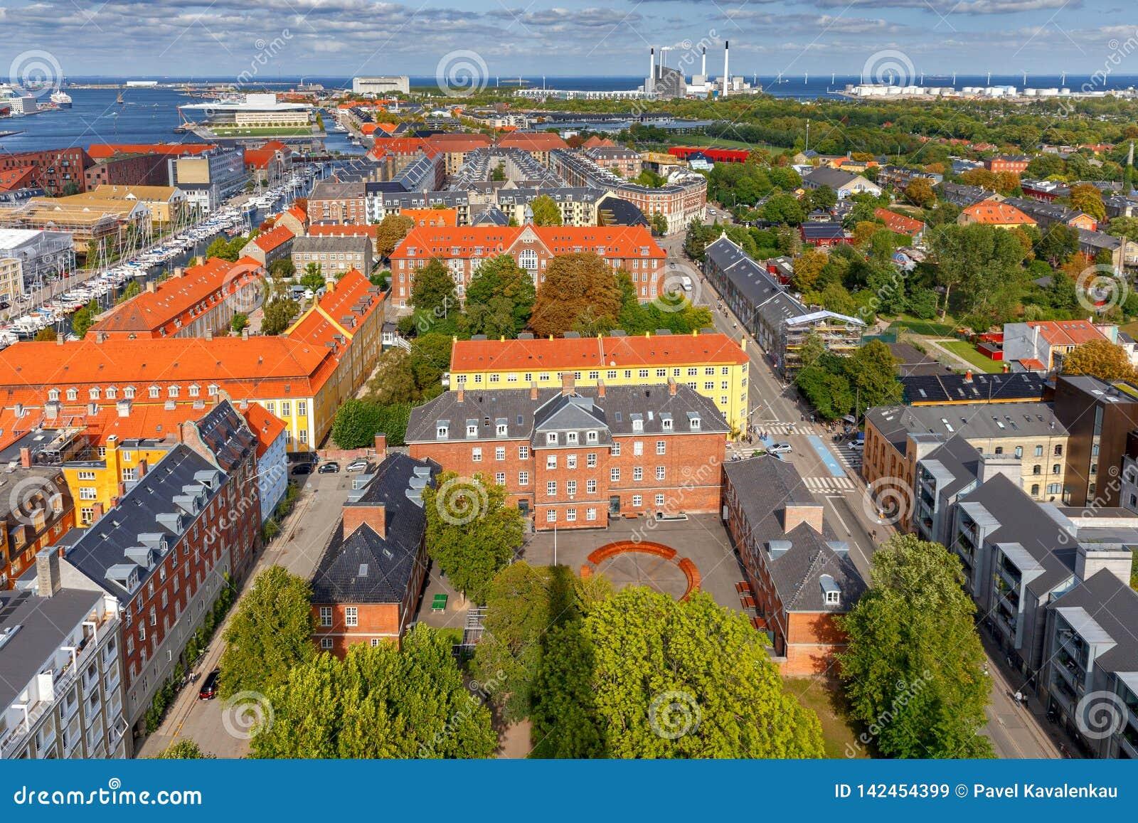 Copenhagen flyg- stadssikt