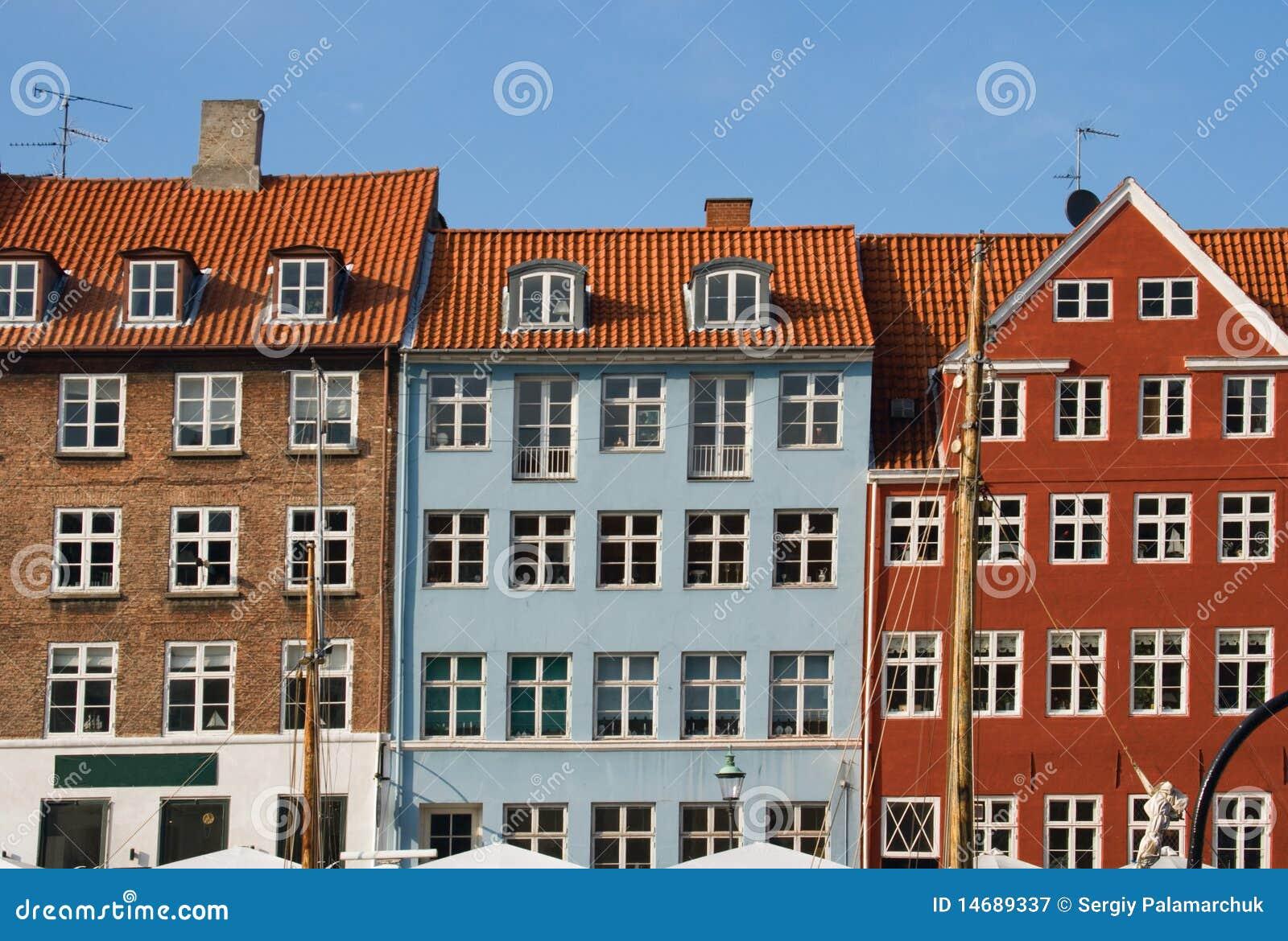 Copenhagen Houses Royalty Free Stock Photography Image