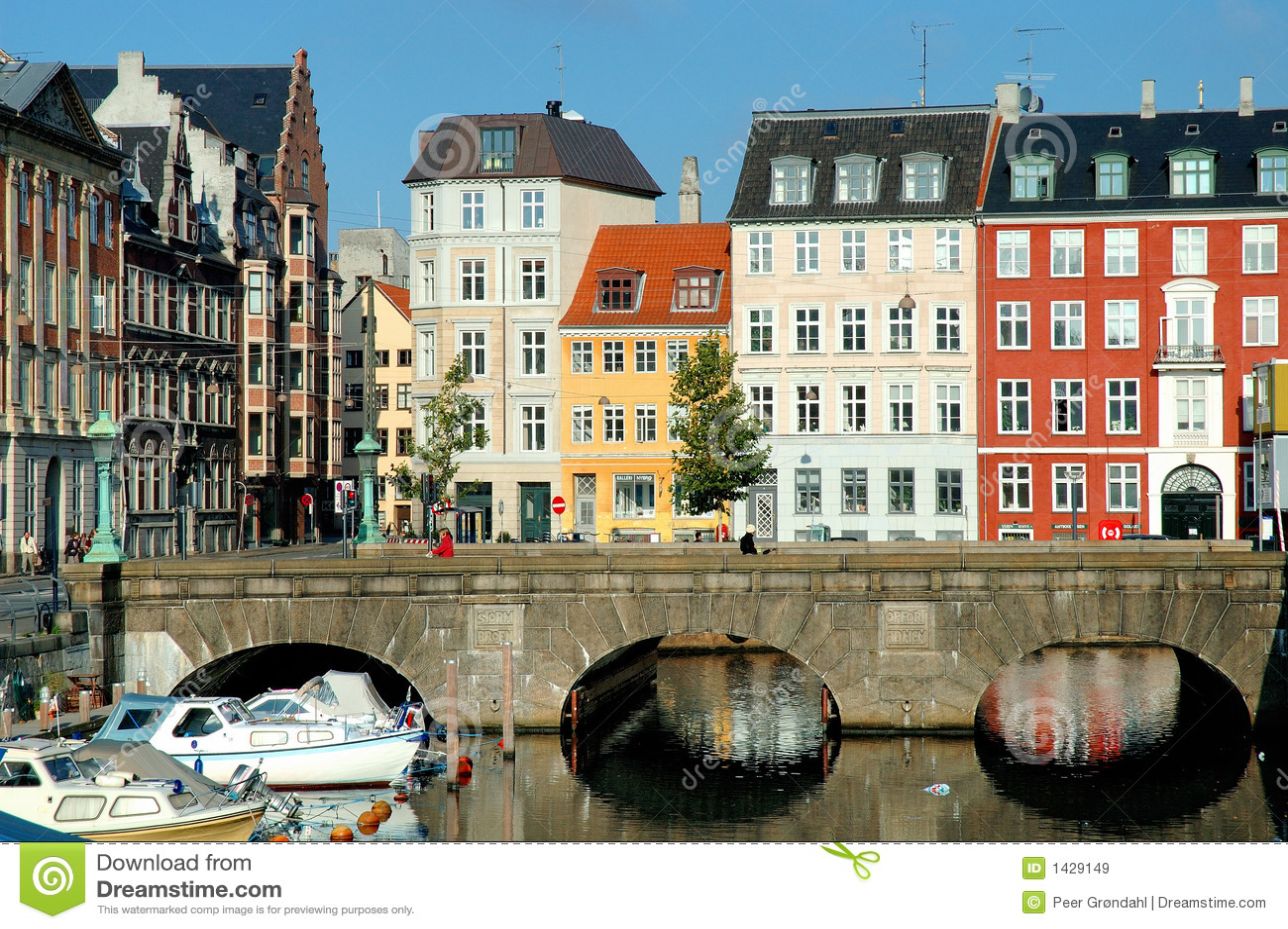 Copenhagen Hus Royaltyfria Bilder Bild 1429149