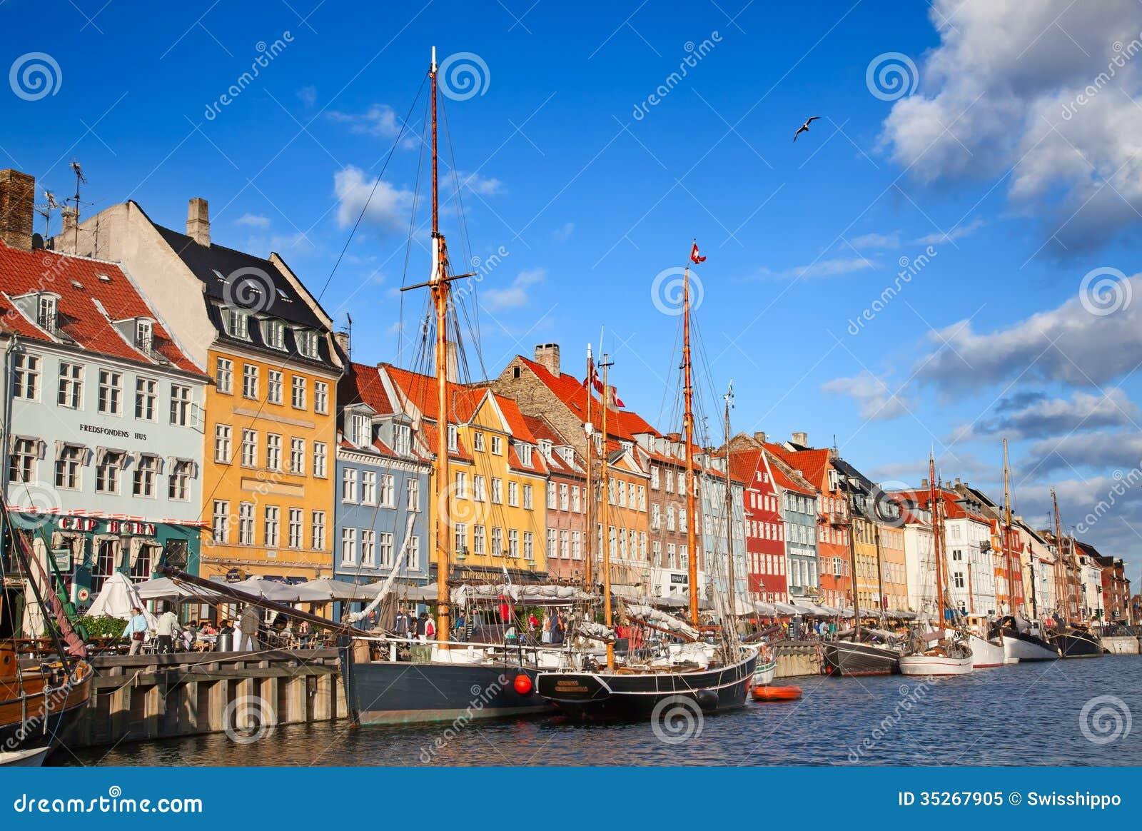 Copenhagen Nyhavn District In A Sunny Summer Day