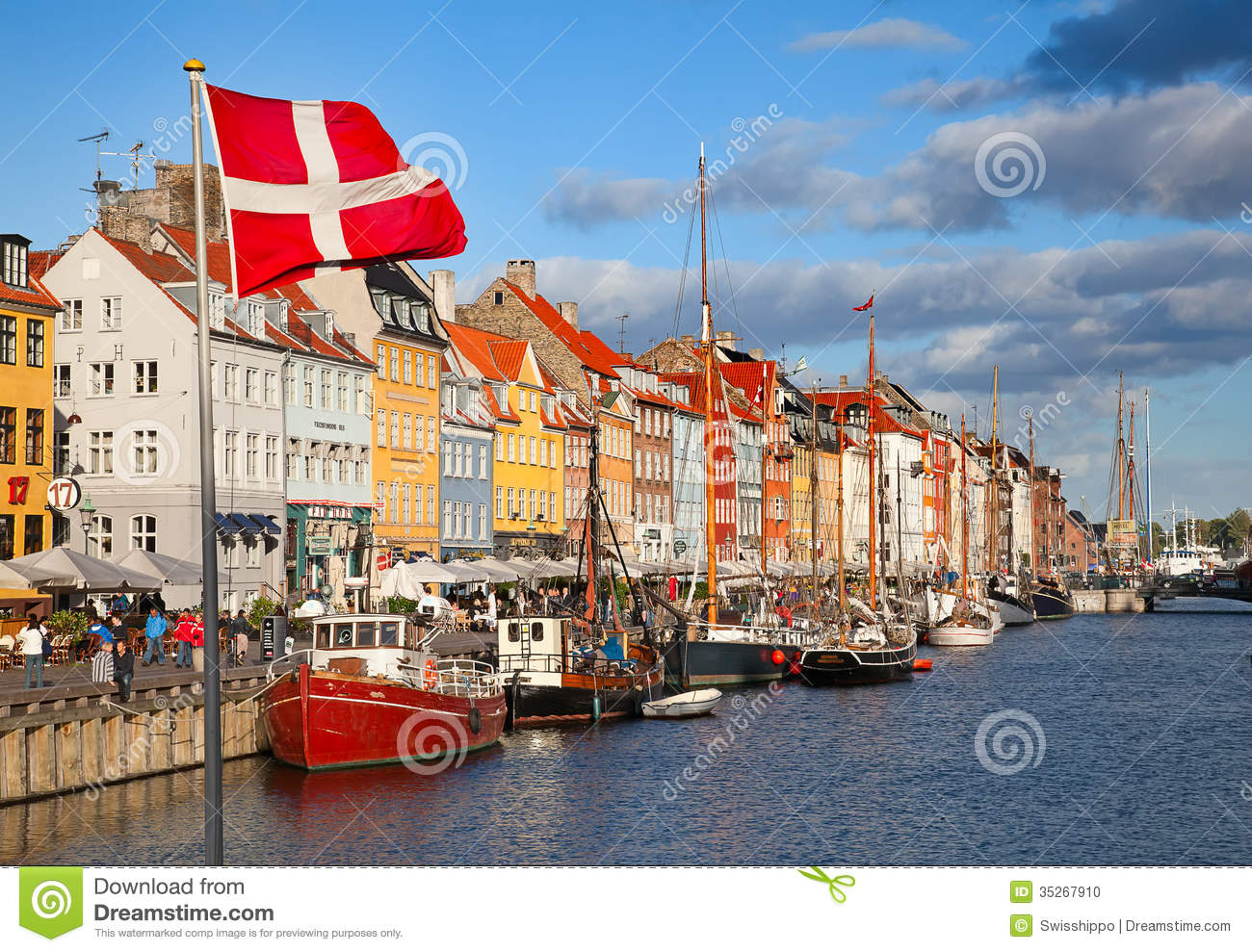 Copenhagen (Nyhavn District) In A Sunny Summer Day ...