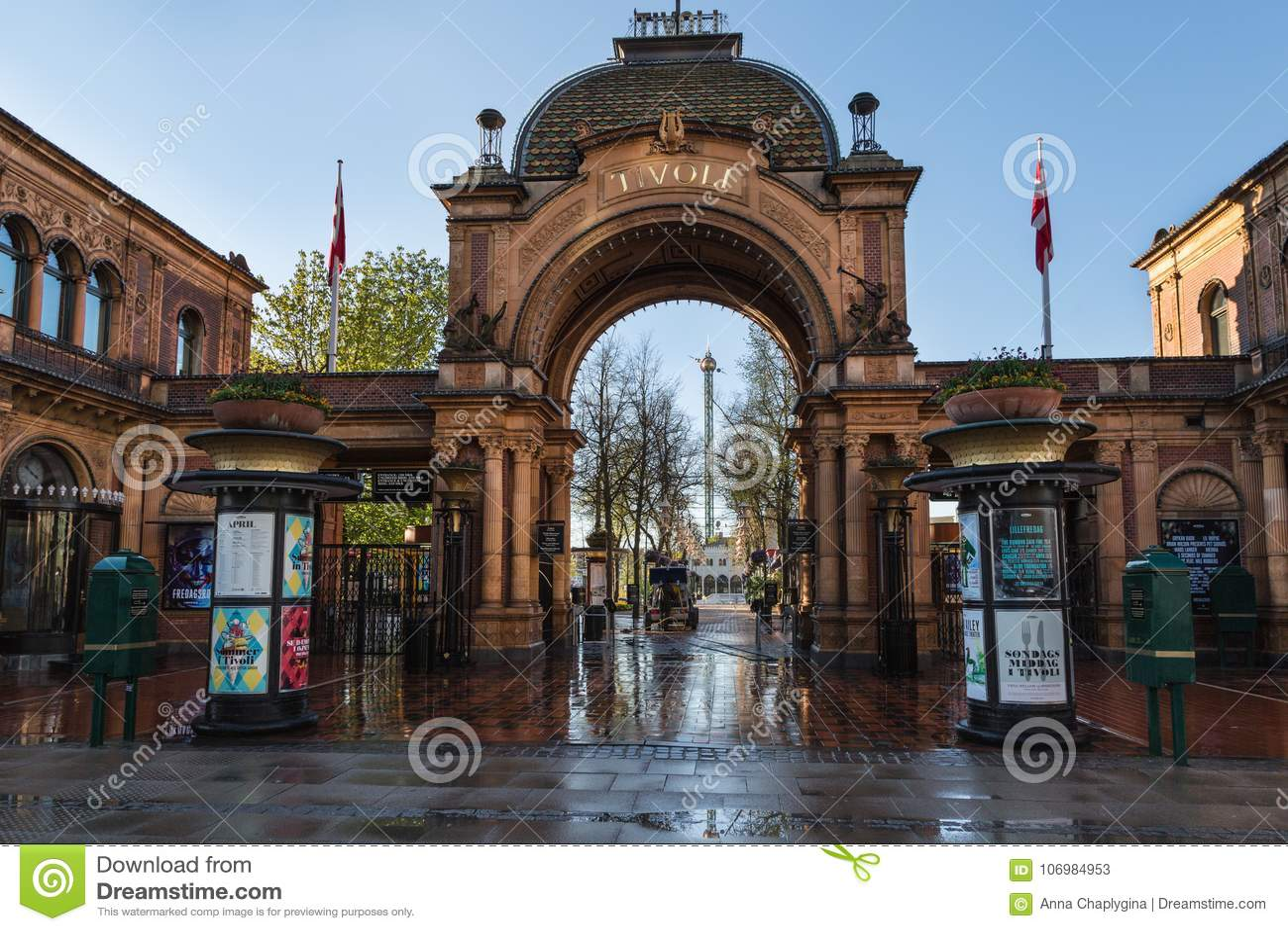 Copenhaghen danimarca 30 aprile 2017: i giardini di tivoli