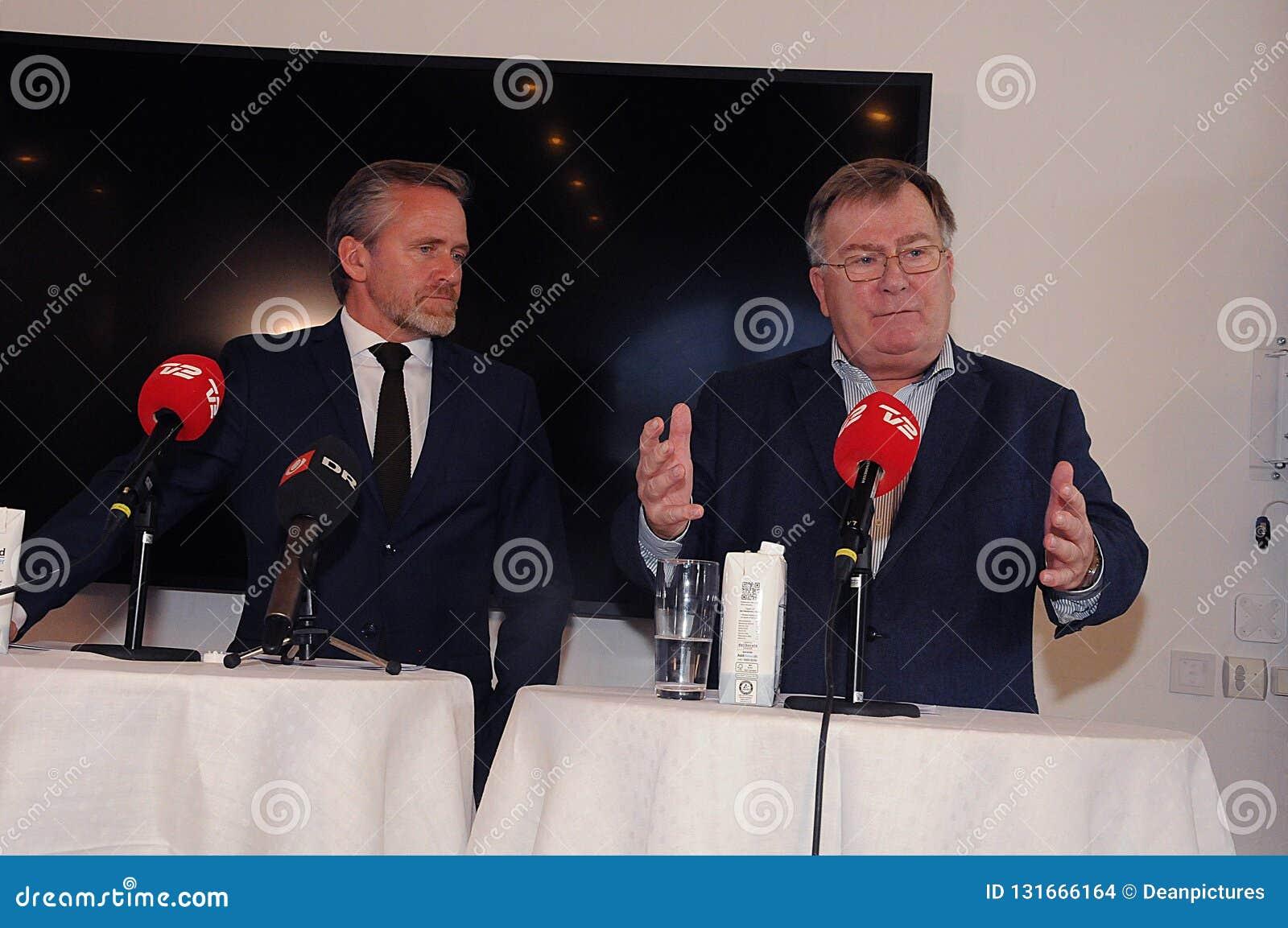 Copenhague/Danemark 15 Novembre 2018 Trois ministres du Danemark ministre danois d Anders Samuelsen des affaires étrangères minis
